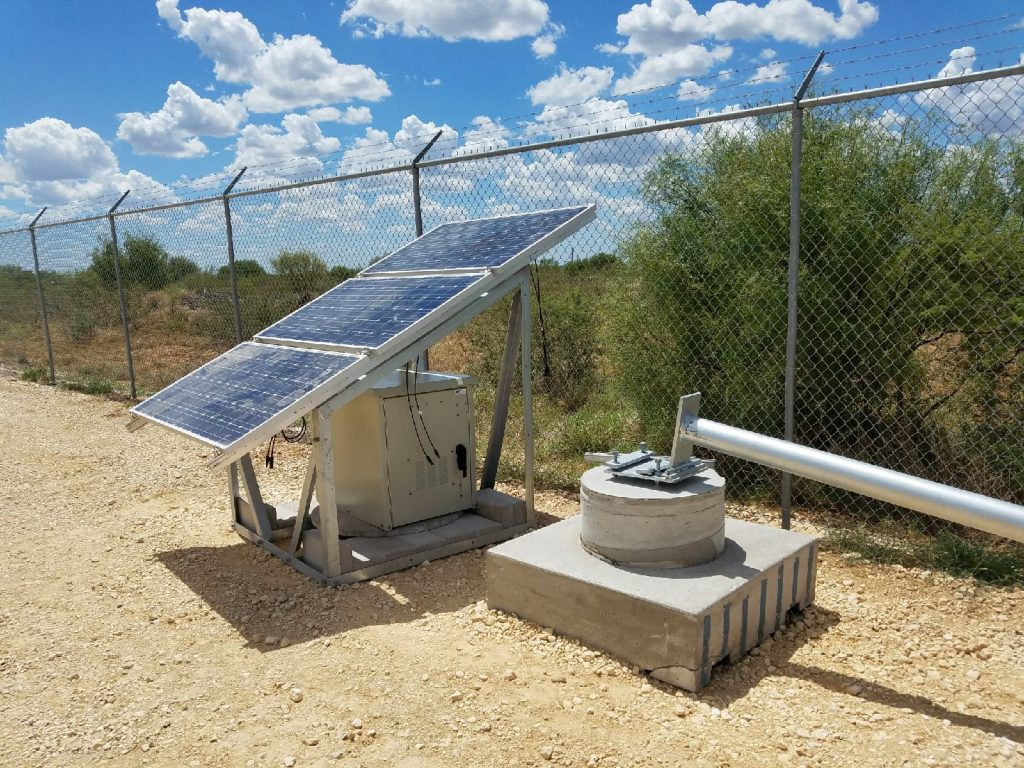 Photo of small cell with pole and solar