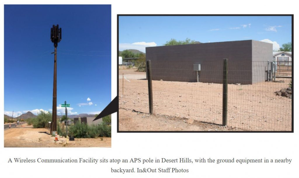 Verizon pole attachment in Arizona